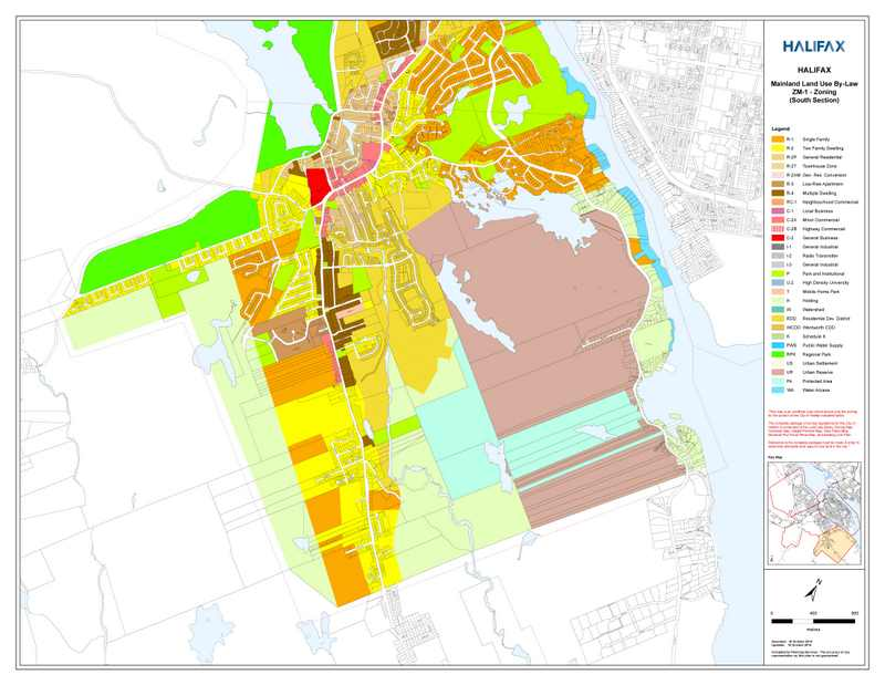 HFX Main Land Use ZM-1 Zoning (South Section)