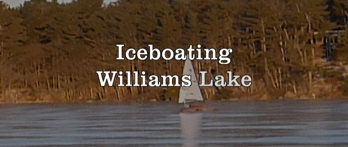 Ice Boating on Williams Lake