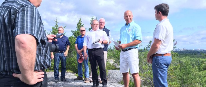 Announcement of funding for wilderness park by federal government