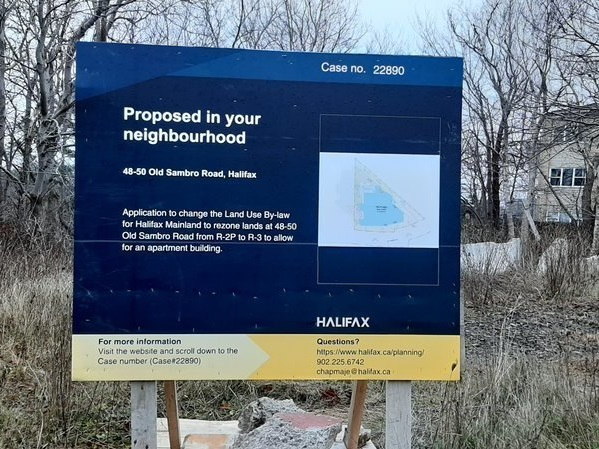 HRM rezoning sign