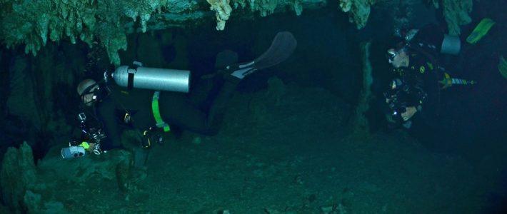 Diver under Williams Lake
