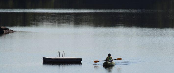 Kelly Schnare in kayak